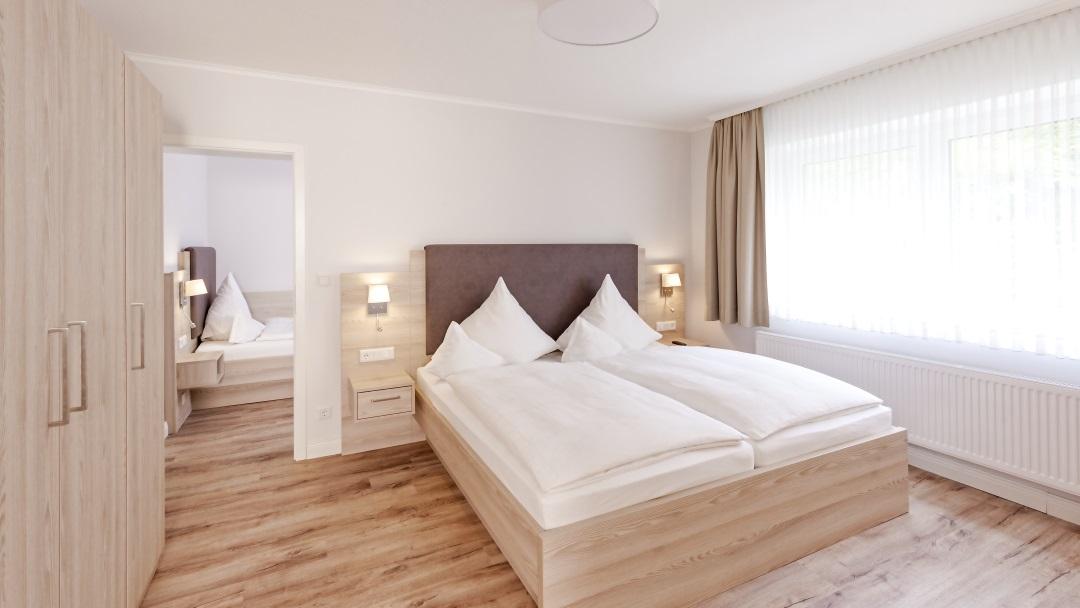 Hotel Noltmann-Peters Ferienwohnung Schlafzimmer