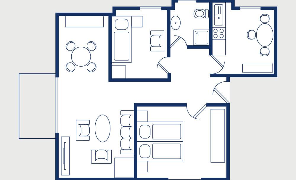 Grundriss Fachwerkhauswohnung 3