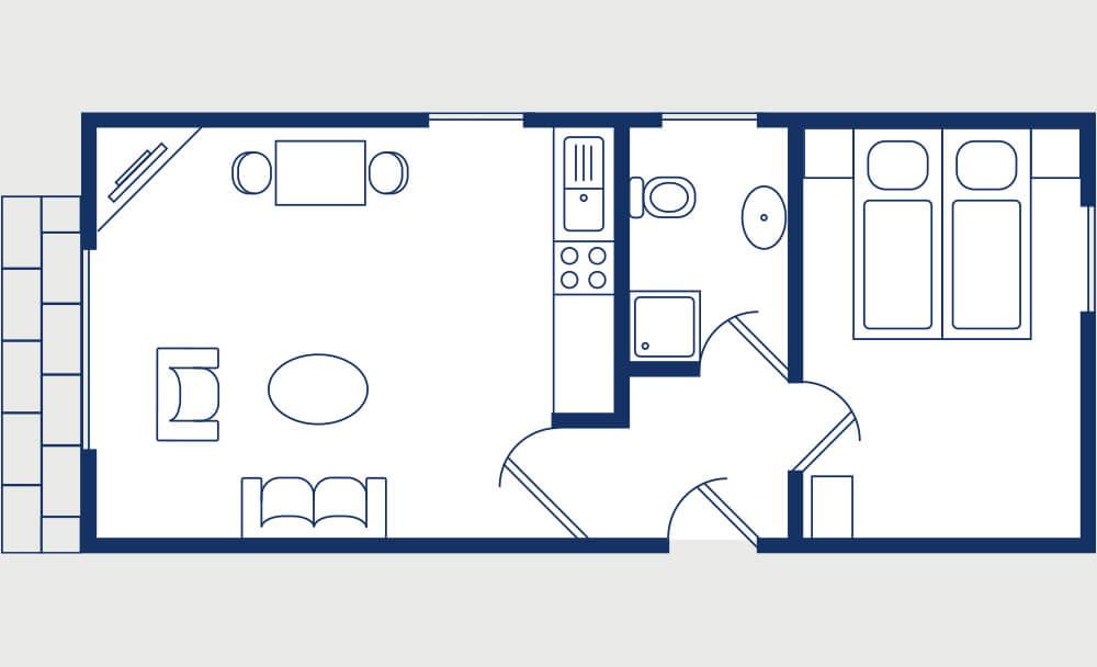 Grundriss Fachwerkhauswohnung 2