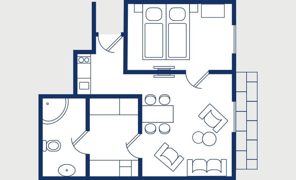 renovierte Wohnung, neuer Grundriss